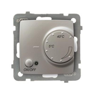 Regulator temperatury z czujnikiem napowietrznym KARO SREBRNY PERŁOWY