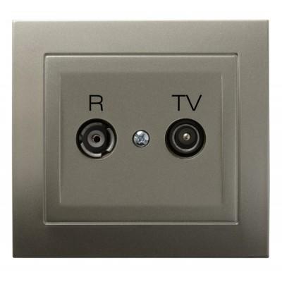 Gniazdo RTV przelotowe 10-dB KIER SATYNA LIGHT