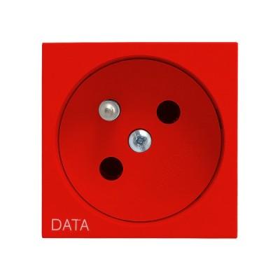 Gniazdo pojedyncze z uziemieniem DATA OSPEL45 CZERWONY
