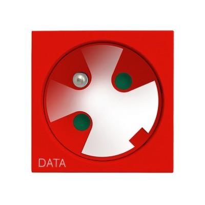 Gniazdo pojedyncze z uziemieniem DATA z kluczem uprawniającym OSPEL45 CZERWONY